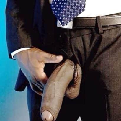 Negerpimmel im Anzug
